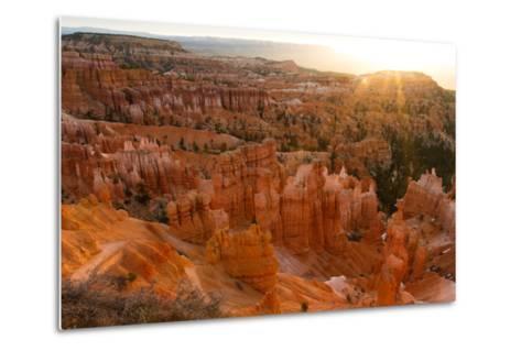 Sunrise Behind the Hoodoos and Spires in Bryce Canyon-Greg Winston-Metal Print