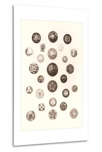 Button Collection--Metal Print