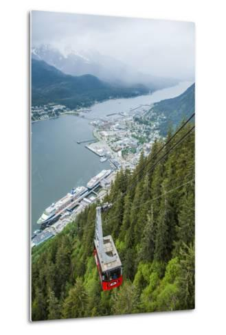 A High Angle View of the Mount Roberts Tramway Above the City of Juneau-Jonathan Kingston-Metal Print