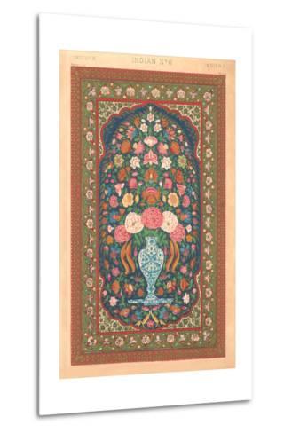 Indian Rug Pattern--Metal Print