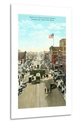 Downtown Great Falls--Metal Print