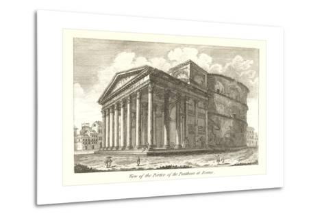 Pantheon Portico, Rome--Metal Print