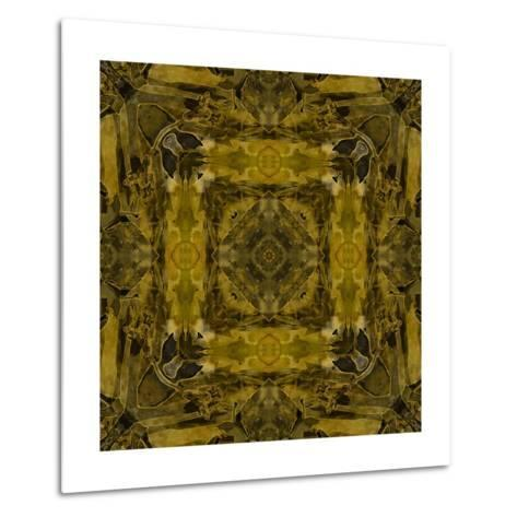Art Nouveau Colorful Ornamental Vintage Pattern in Gold and Green Colors-Irina QQQ-Metal Print