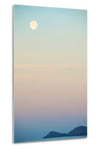 The Full Moon at Moonset over the British Virgin Islands-Heather Perry-Metal Print