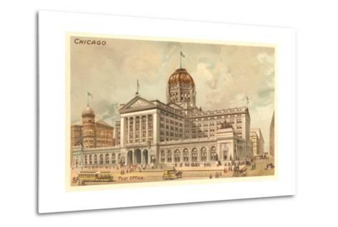 Vintage Chicago Post Office--Metal Print