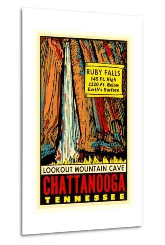 Chattanooga Decal, Ruby Falls--Metal Print