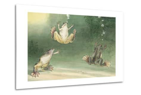 The Aglossa Frogs are Aquatic, Coming Up for Air Every Few Minutes-Hashime Murayama-Metal Print