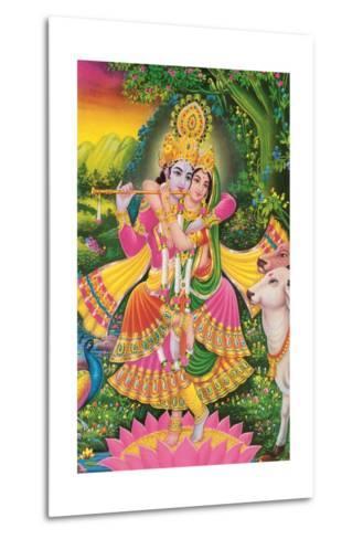 Krishna and Radha--Metal Print