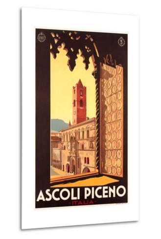 Travel Poster for Ascoli Piceno--Metal Print