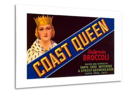 Broccoli Crate Label--Metal Print