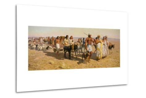 Young Abram Travels with Family Up Euphrates Valley-Tom Lovell-Metal Print