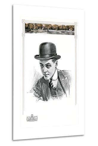 1910s Men's Hat Illustration--Metal Print