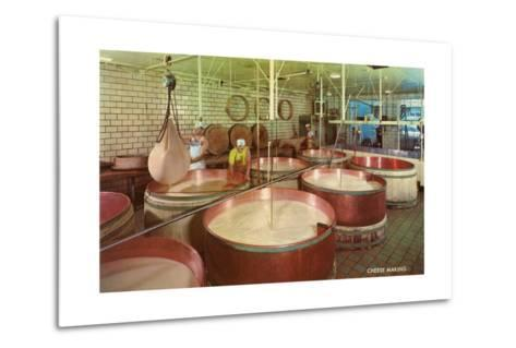 Vats of Cheese Curds--Metal Print