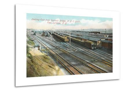 Syracuse Rail Yards--Metal Print