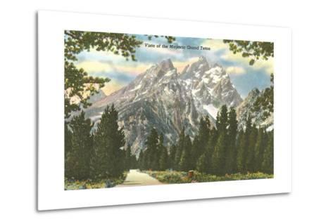 Vista of Majestic Grant Teton--Metal Print