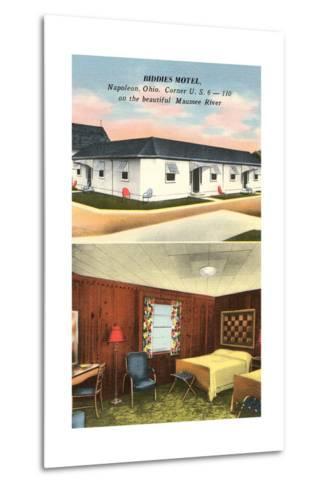 Biddies Motel, Napoleon, Ohio--Metal Print