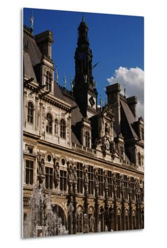 France, Paris, Hotel De Ville, Renaissance Revival- Ballu & Deperthes-Metal Print