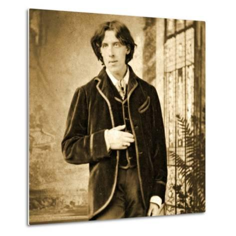 Portrait of Oscar Wilde C. 1882-Napoleon Sarony-Metal Print
