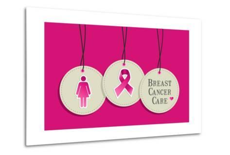 Breast Cancer Care-cienpies-Metal Print