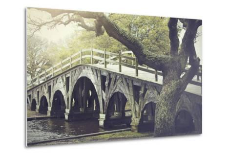 The Footbridge in Corolla, North Carolina is on the National Register of Historic Places.-pdb1-Metal Print