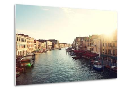 Grand Canal, Venice, Italy, Called Canal Grande in Italian, as Seen from Rialto Bridge. Beautiful V-Maridav-Metal Print