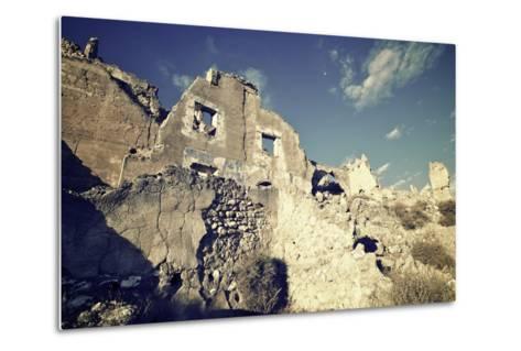 Roden Village Destroyed in a Bombing during the Spanish Civil War, Saragossa, Aragon, Spain-pedrosala-Metal Print