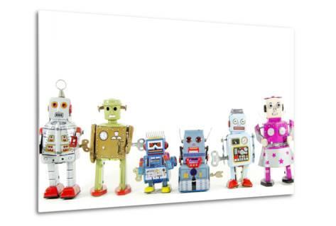 A Team of Robot Toys-davinci-Metal Print