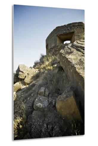Bunker Used in the Spanish Civil War, Tierz, Huesca, Aragon, Spain.-pedrosala-Metal Print