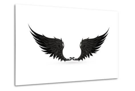 Wings Black, Eps10-Nataliia Natykach-Metal Print