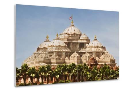 Facade of a Temple, Akshardham, Delhi, India-jackmicro-Metal Print