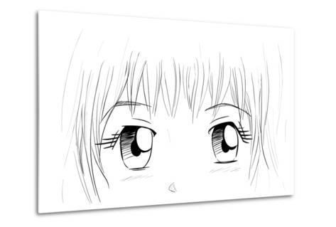 Manga Eyes-yienkeat-Metal Print