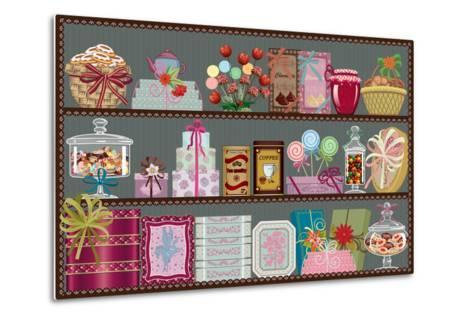 Store of Sweets and Chocolate-Milovelen-Metal Print