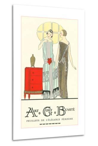 AGB French Fashion Illustration--Metal Print