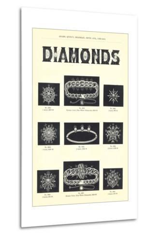 Diamond Jewelry Assortment--Metal Print