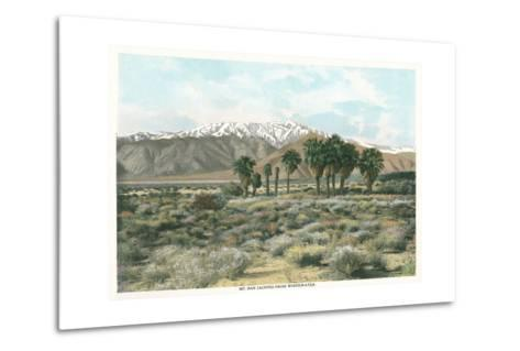 Mt. San Jacinto from Whitewater--Metal Print