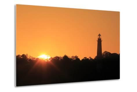 The Sun Rising Next to the Assateague Lighthouse-Robbie George-Metal Print