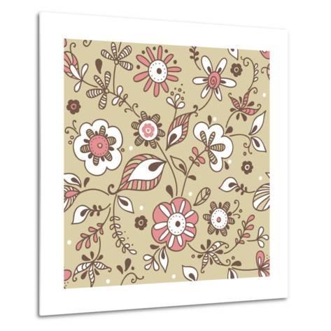 Floral Pattern-lozas-Metal Print