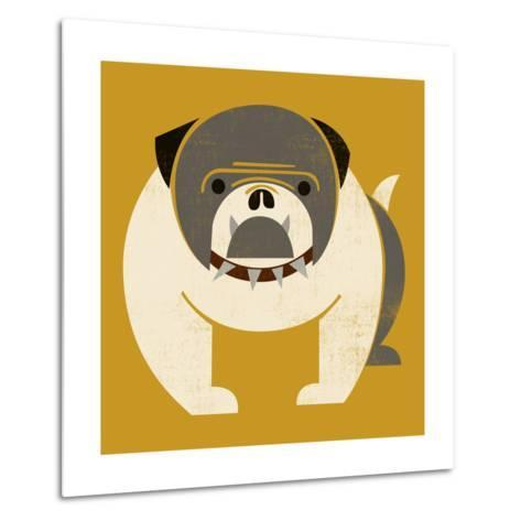 Plakastil Bulldog--Metal Print