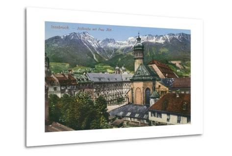 View of Mountains from Innsbruck, Austria--Metal Print