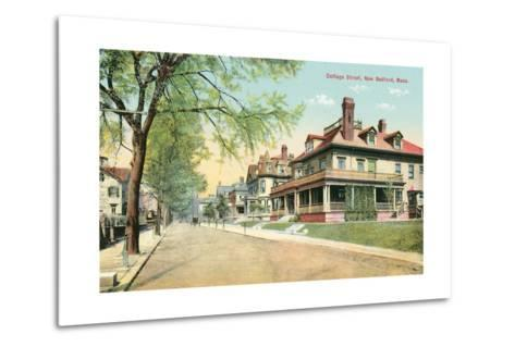 Cottage Street, New Bedford--Metal Print