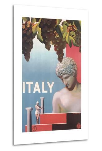 Travel Poster for Italy--Metal Print