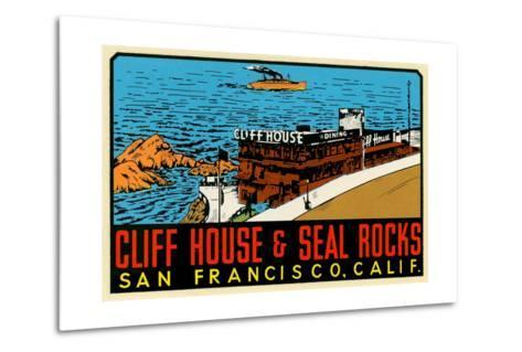 Cliff House Decal--Metal Print