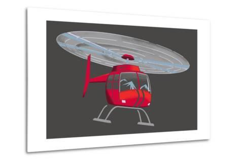 Helicopter--Metal Print