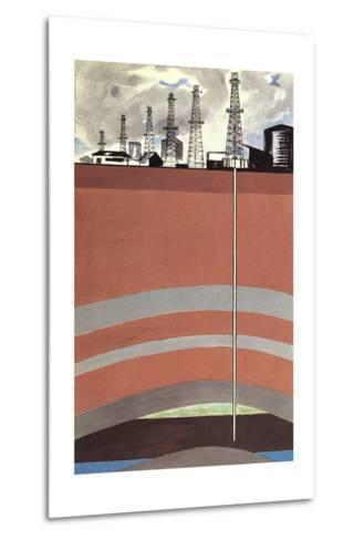 Oil Well Diagram--Metal Print