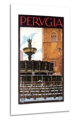 Travel Poster for Perugia--Metal Print