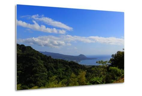 A View from the Mountains in the North of Dominica Island Toward the Town of Portsmouth-Roff Smith-Metal Print