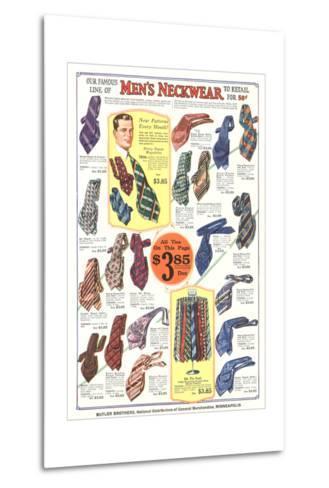 Twenties Clothes Catalog--Metal Print