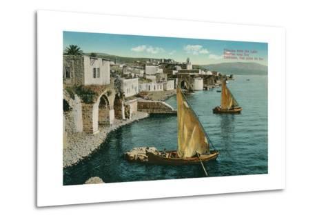 Dhows on Sea of Galilee, Isreal--Metal Print