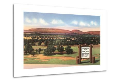 Sign for Continental Divide--Metal Print