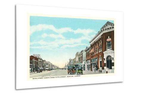 Main Street, Newton--Metal Print